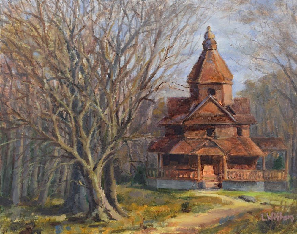 Church in the Woods (2017, plein air)