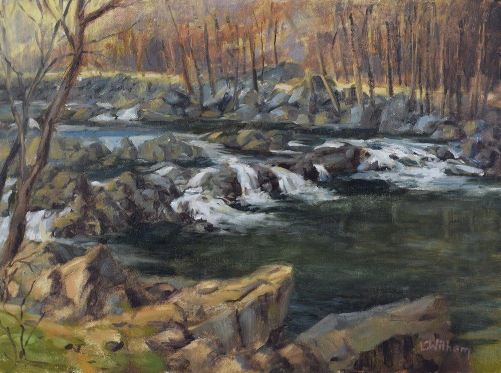 Patuxent Rapids (2017, plein air)