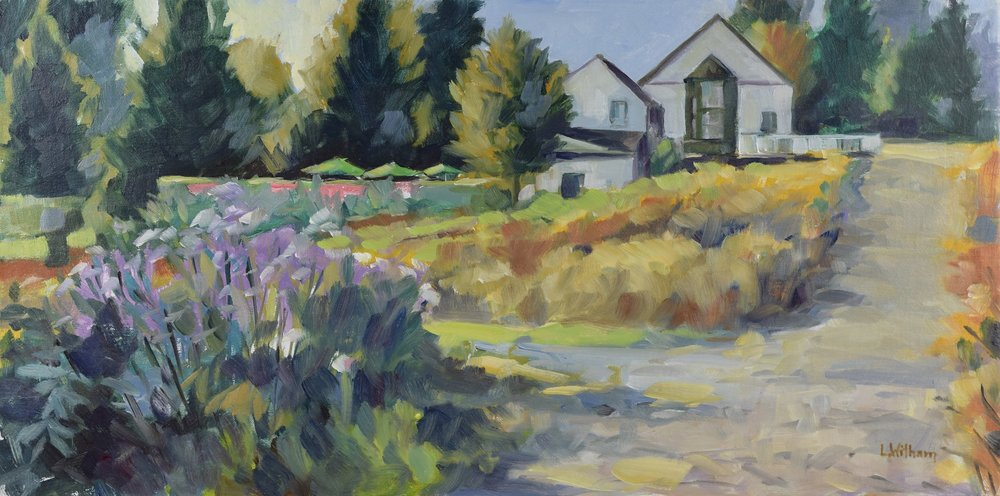 Golden Meadow (2016, plein air)  Oil on linen, 10x20