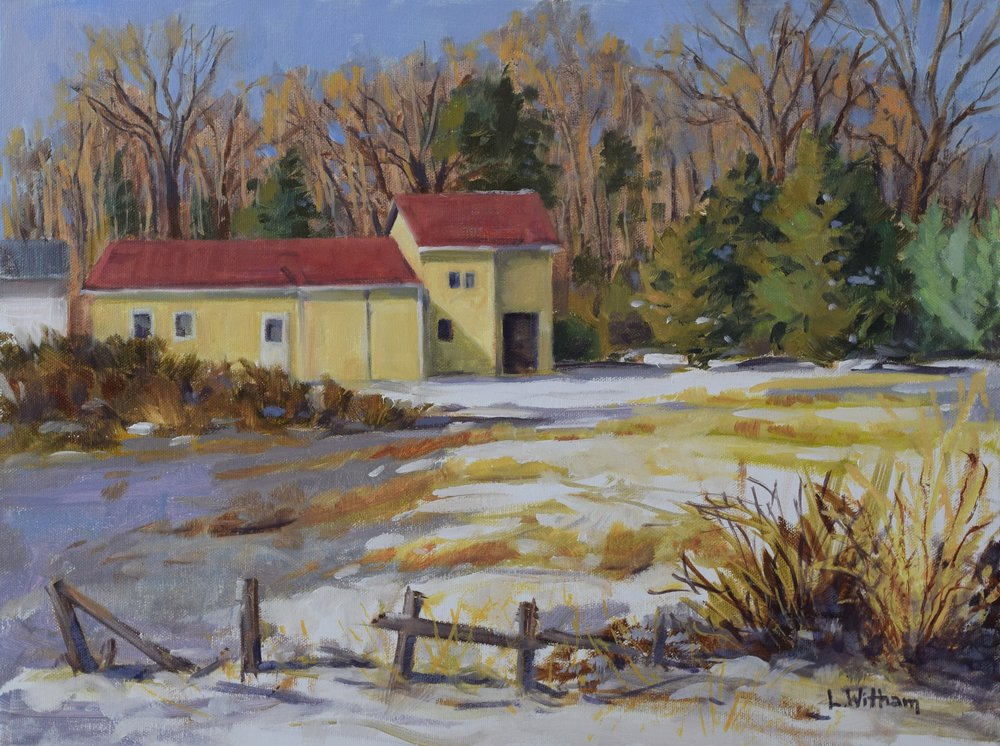 First Snow (2017, plein air)  Oil on canvas, 12x16