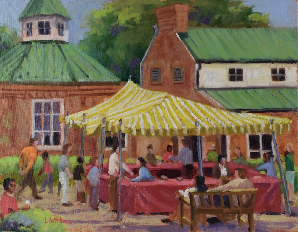 Strawberry Festival (2016, plein air)  Oil on canvas, 11x14