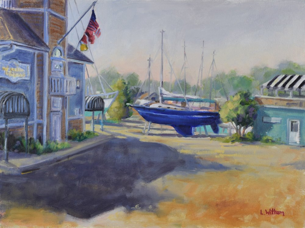 Fancy Boatyard (2016, plein air)  Oil on canvas, 12x16