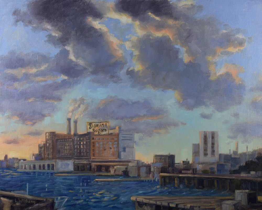 Baltimore Harbor (2017)  Oil on linen, 16x20