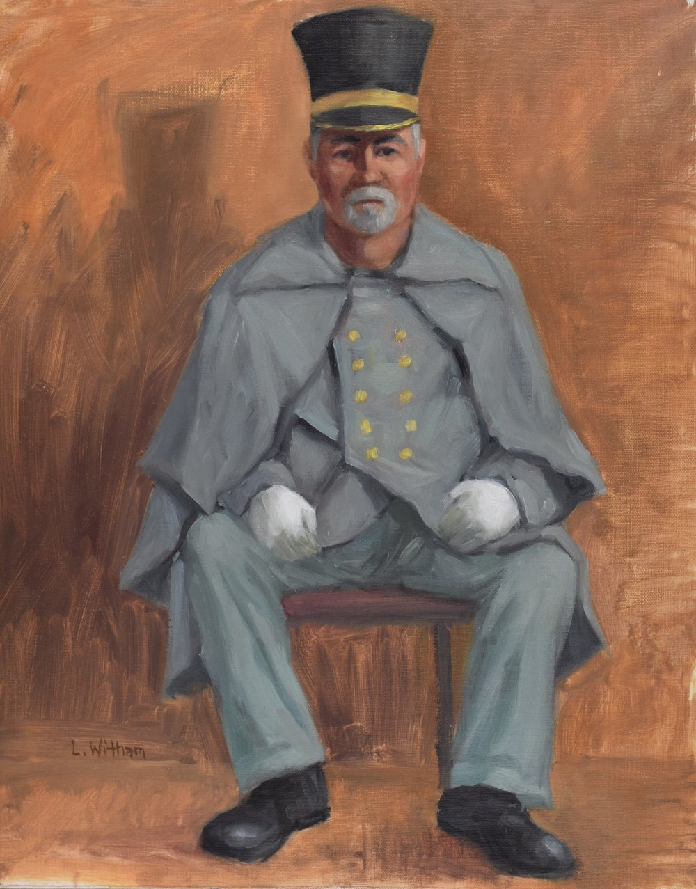 Old Soldier (2016)  Oil on canvas, 11x14