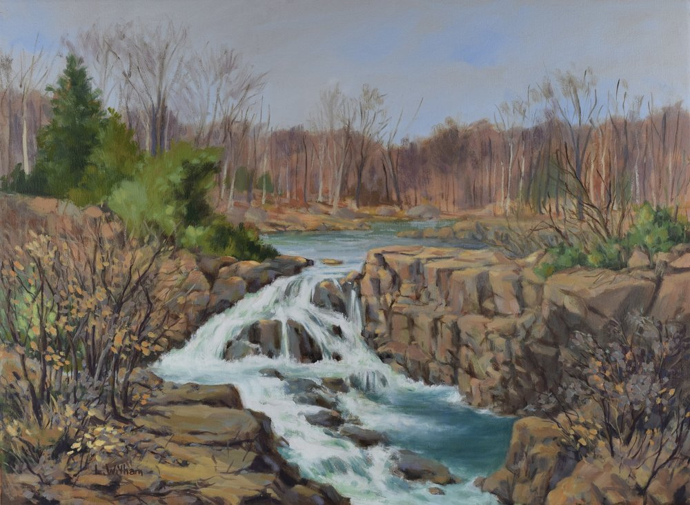 Great Falls Winter (2016)  Oil on canvas, 18x24