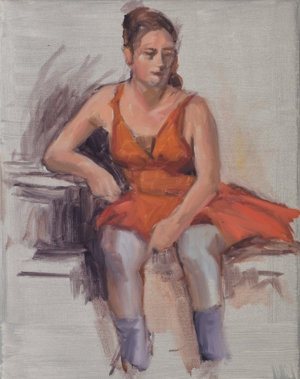Sketch (Ballerina) (2017)  Oil on canvas, 11x14
