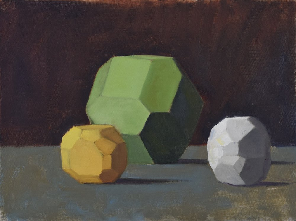 Geometrical (2017)  Oil on linen, 9x12