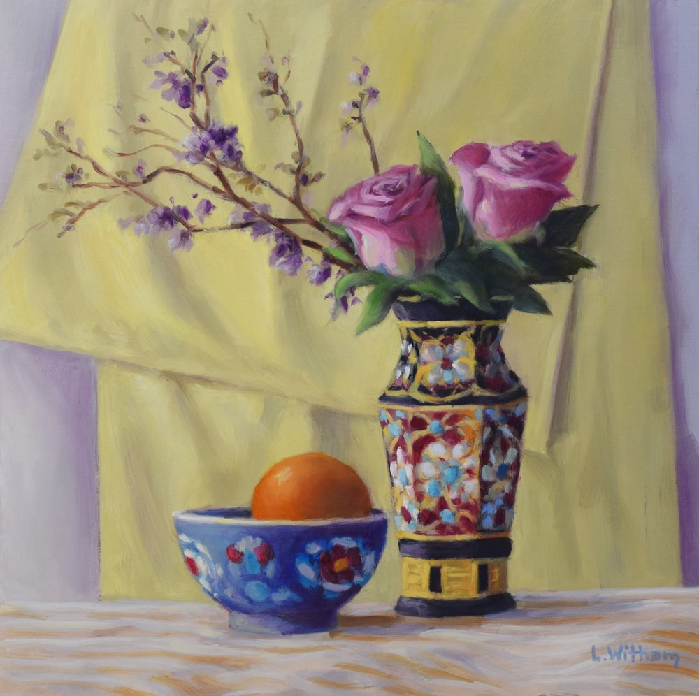 Yellow and Black Vase (2017)