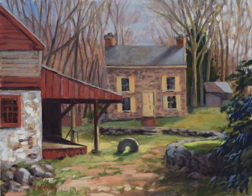 Gristmill (2017, plein air)  Oil on line, 11x14