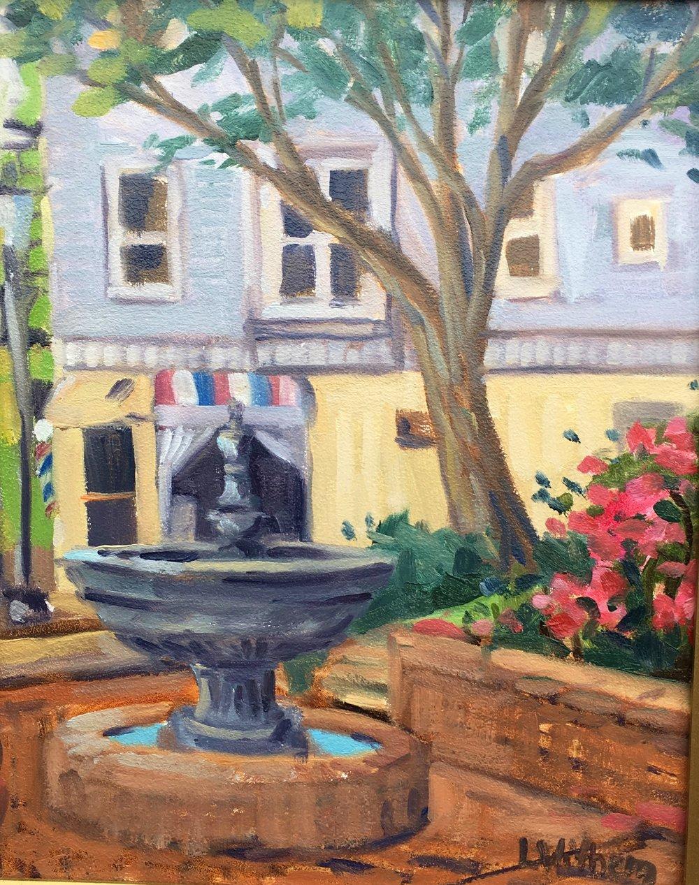 Bel Air Fountain (2017, plein air)