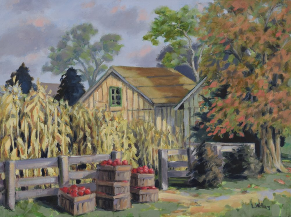 Corn and Apples (2017, plein air)
