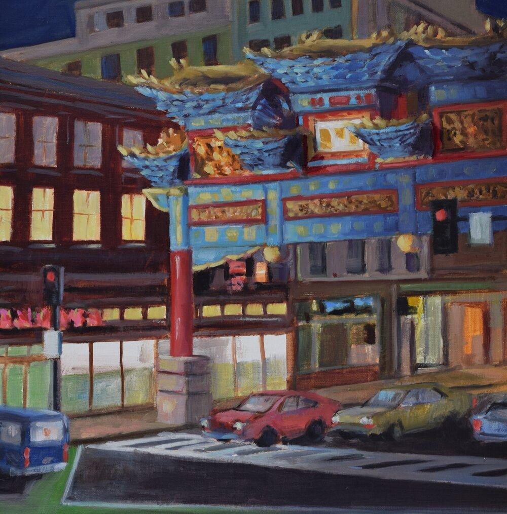 Chinatown (2016, plein air)