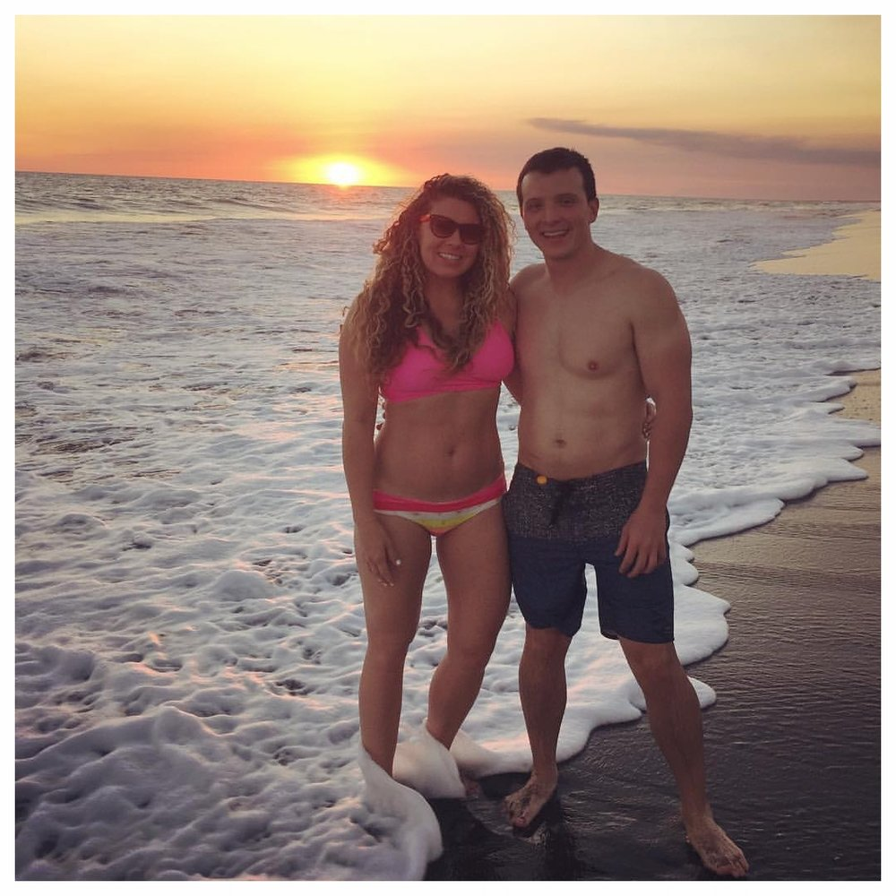 Me and my husband at playa monterrico, guatemala the week he proposed.