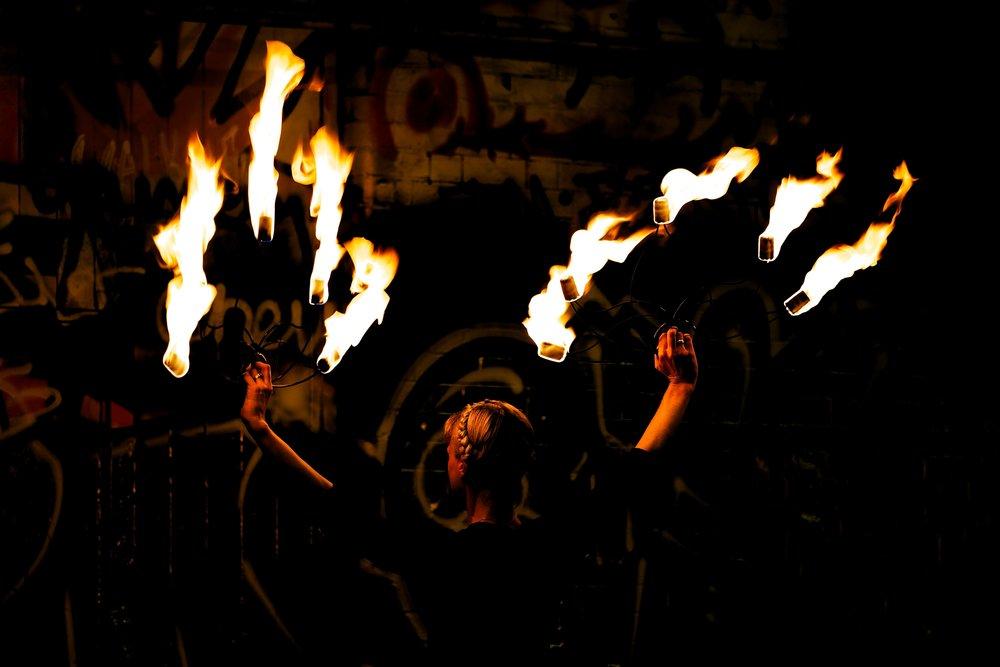 Fire Fans Show