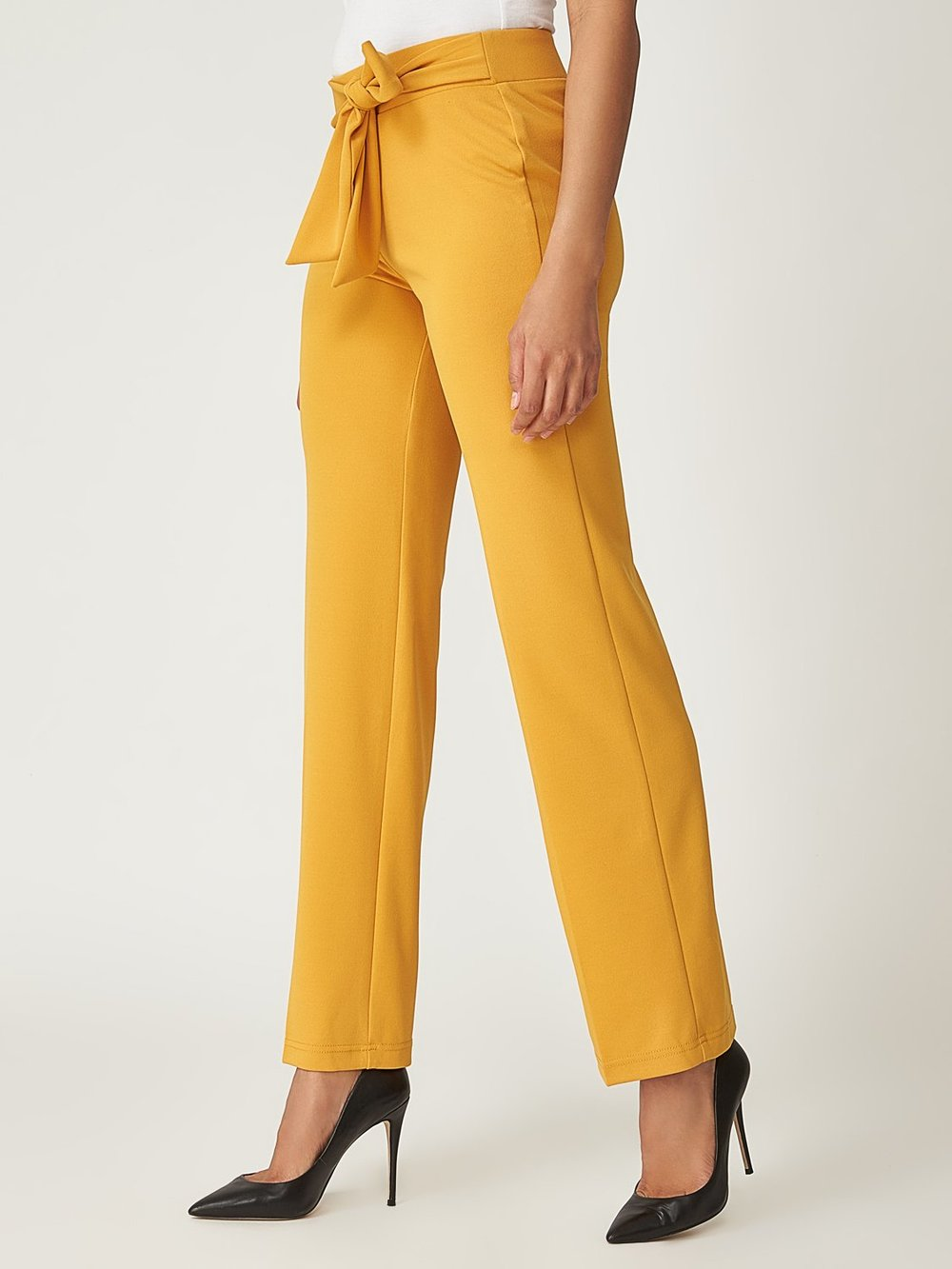 Crepe Pant With Elastic Waistband