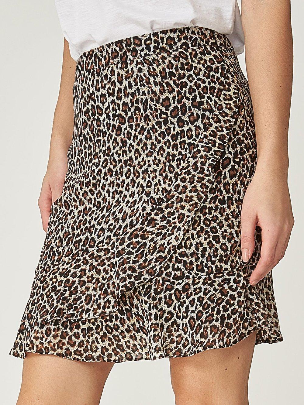 Printed Short Ruffle Skirt