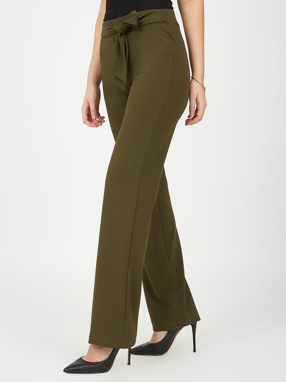 Elastic Waist Crepe Pants