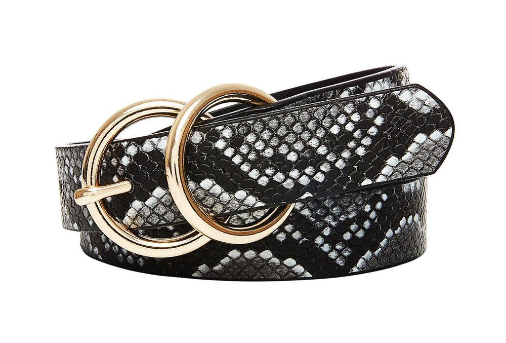 Snake Print PU Belt
