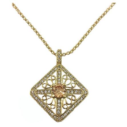 Diamond shaped pendant necklace aramllery diamond shaped pendant necklace aloadofball Images