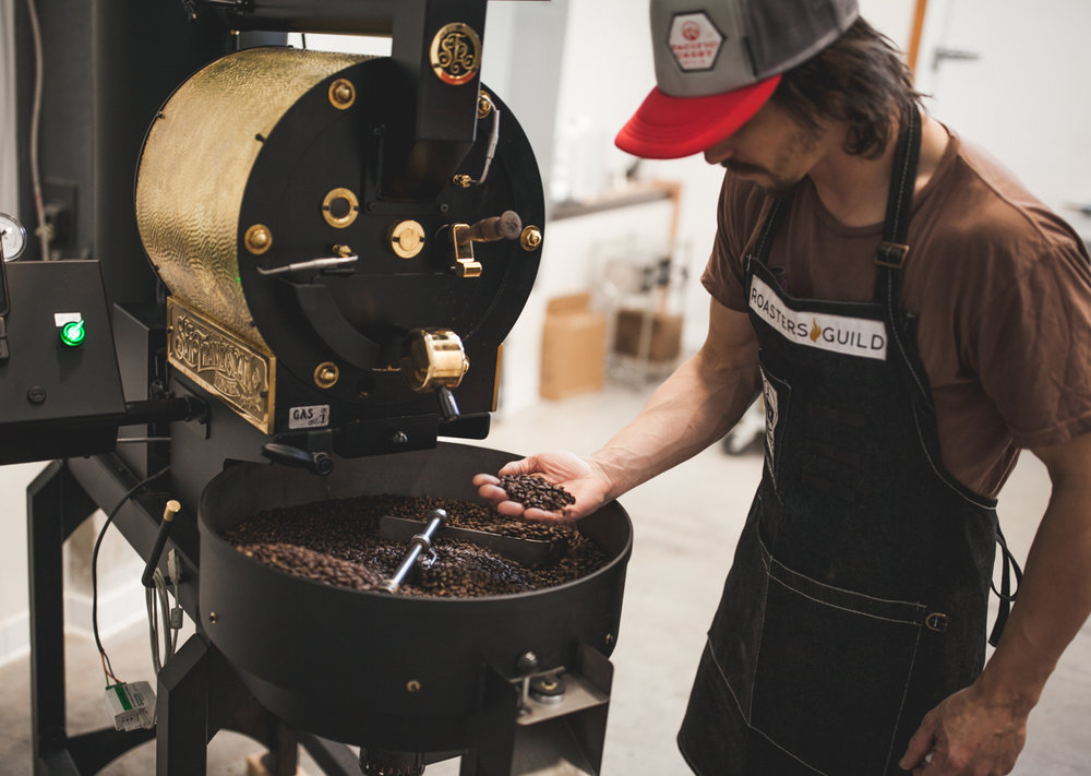 Shop - We roast fresh crop green coffee in small batches to balance the coffee's natural flavors with the roast preferences of coffee lovers.