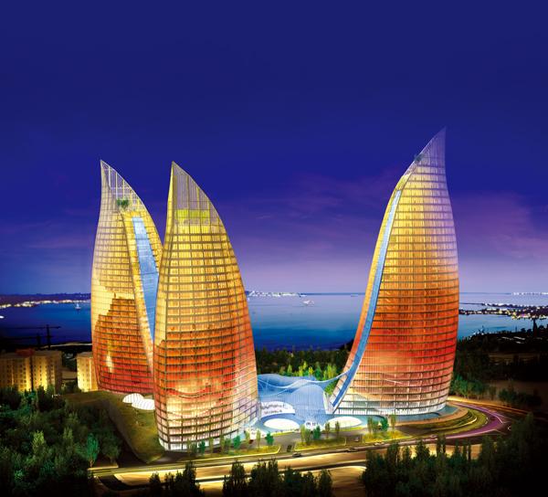 The 39 Story, Baku Flame Towers. Baku, Azerbaijan. www.diaholding.com - www.thebriefnote.com