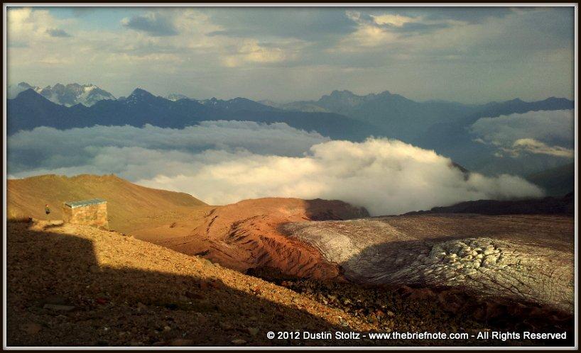 Kazbegi-Gergeti-Glacier-Mountaineering-Texting-Phone-Summit-The-Brief-Note-Stepantsminda-Georgia-2012