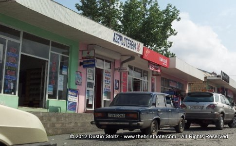 Stores-selling-Bakcell-Nar-Sim-cell-phone-mobile-Zaqatala-Azerbaijan-The-Brief-Note-2012-Travel