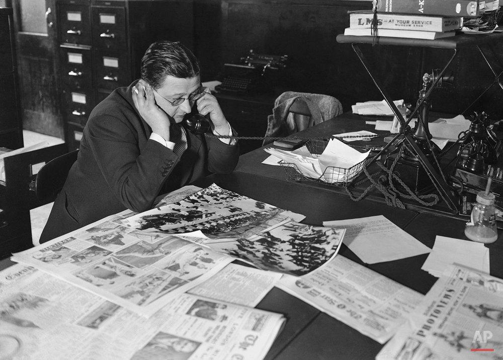 AP London Bureau Photo Desk 1930s