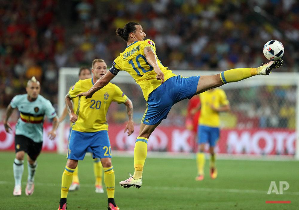 Soccer Euro 2016 Sweden Belgium