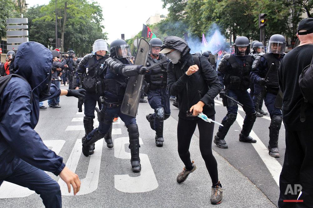 France Labor Standoff