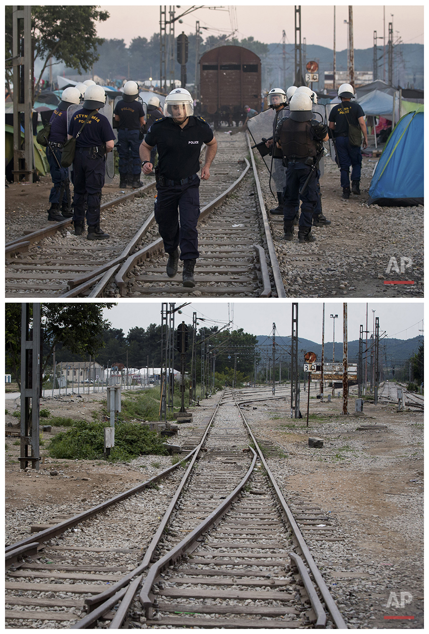 Greece Idomeni Before and After Photo Gallery