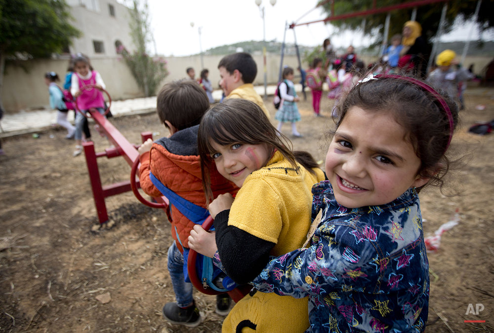 Mideast Israel Palestinians Child Day