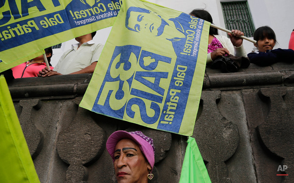 Ecuador Pro Government Protests