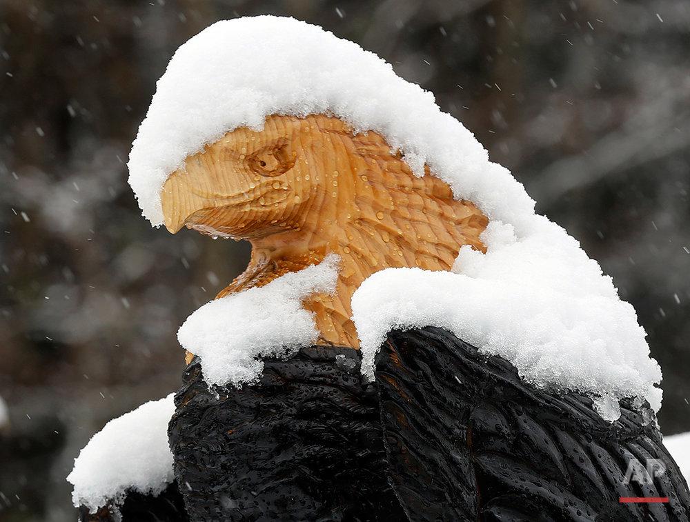 APTOPIX Spring Snow