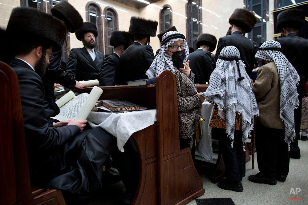 Mideast Israel Purim