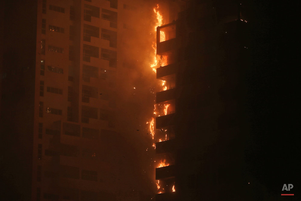 Emirates Skyscrapper Fire