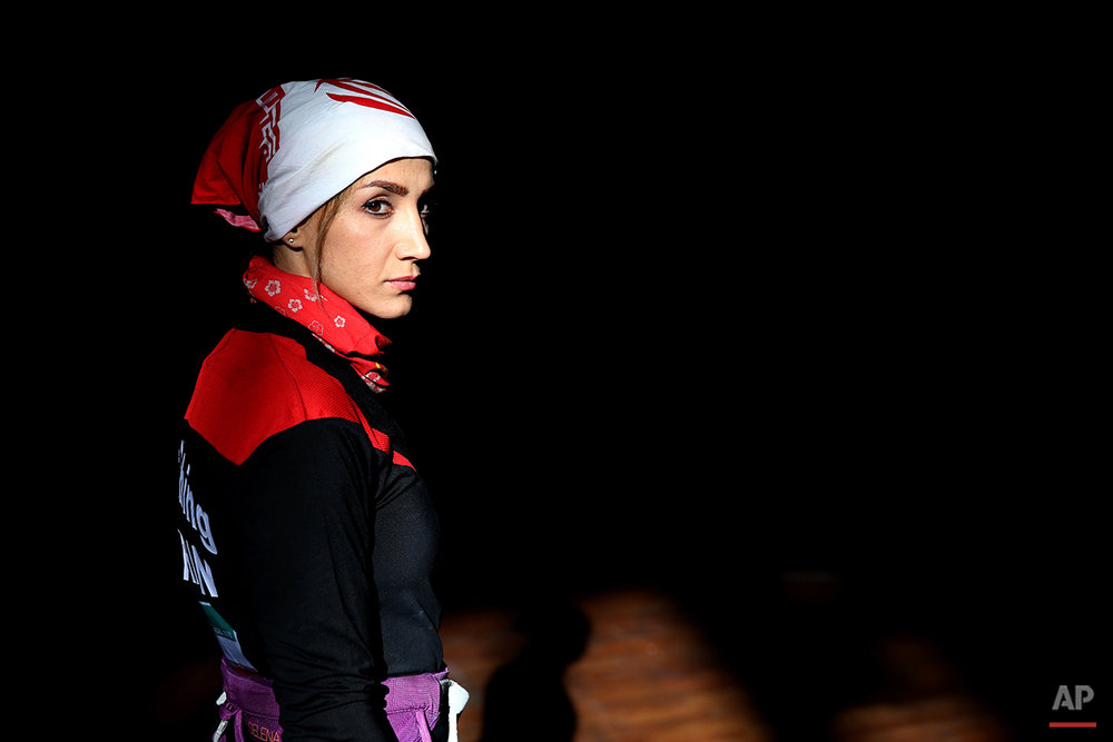 APTOPIX Mideast Iran Female Rock Climber Photo Gallery