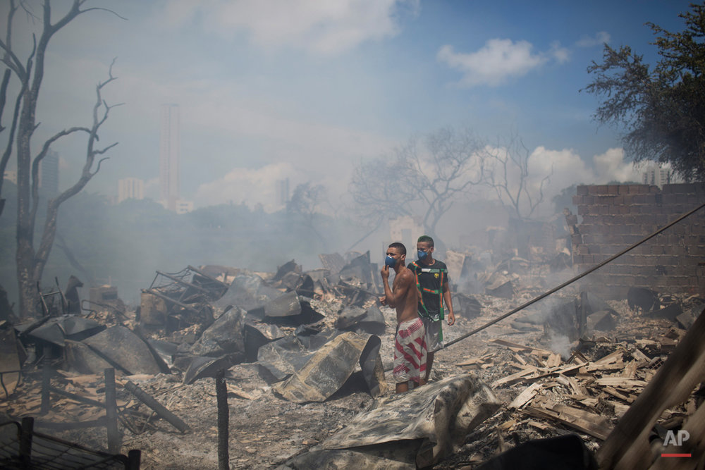 Brazil Slum Fire