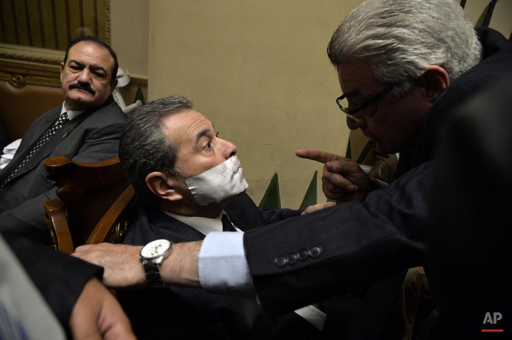 APTOPIX Mideast Egypt Parliament