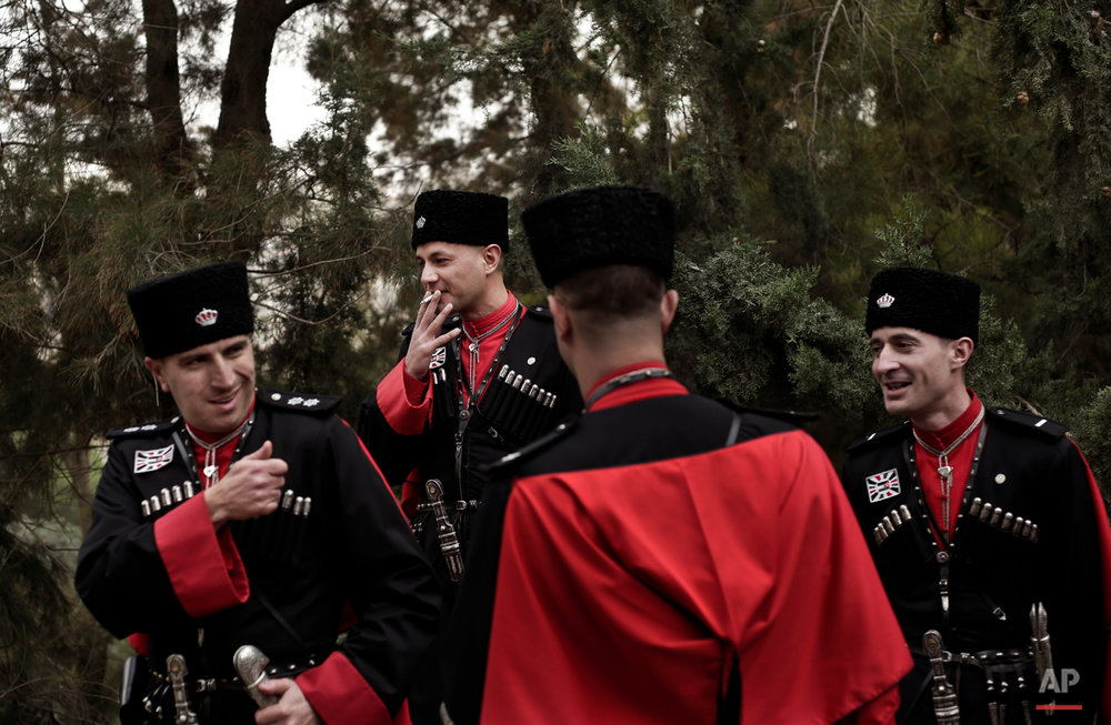 APTOPIX Mideast Jordan Circassian Guards