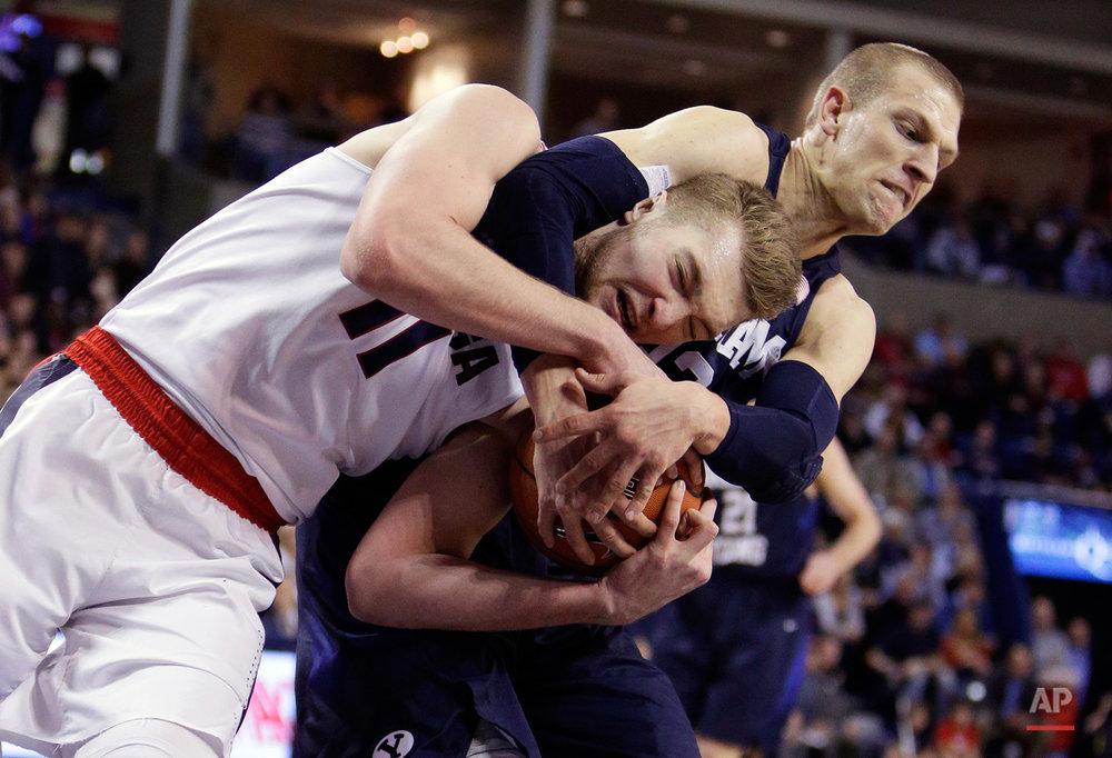 APTOPIX BYU Gonzaga Basketball