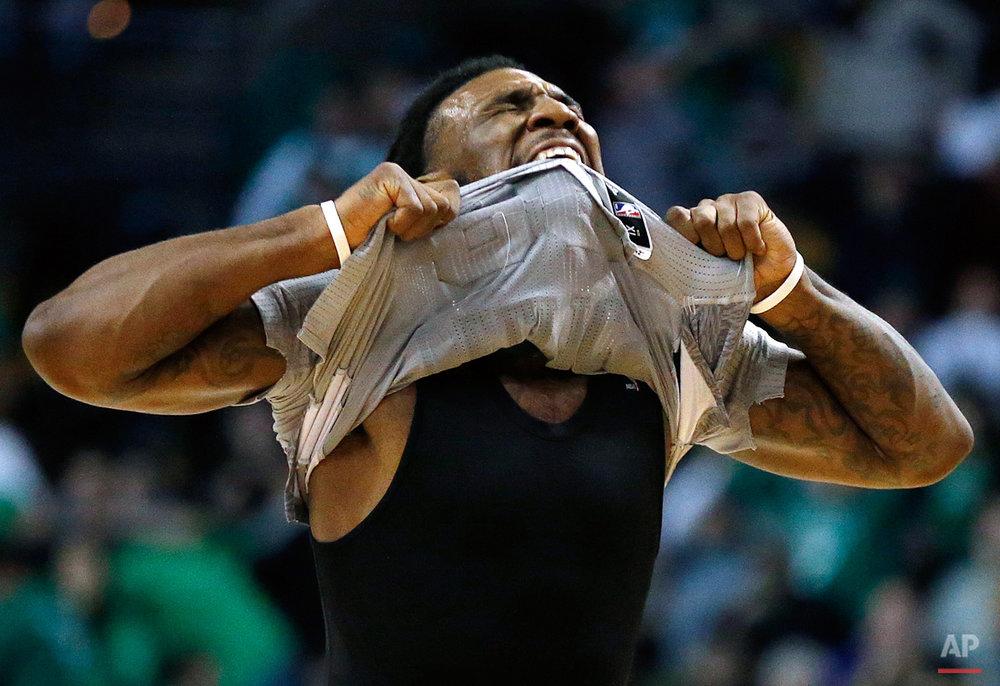 APTOPIX Nets Celtics Basketball