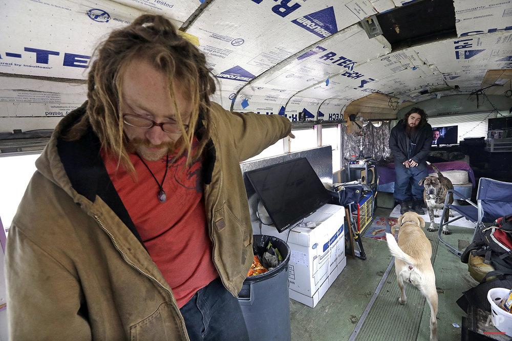 APTOPIX Seattle Homeless Photo Essay