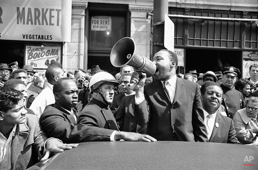 Dr. Martin Luther King   Speaking  Bull Horn