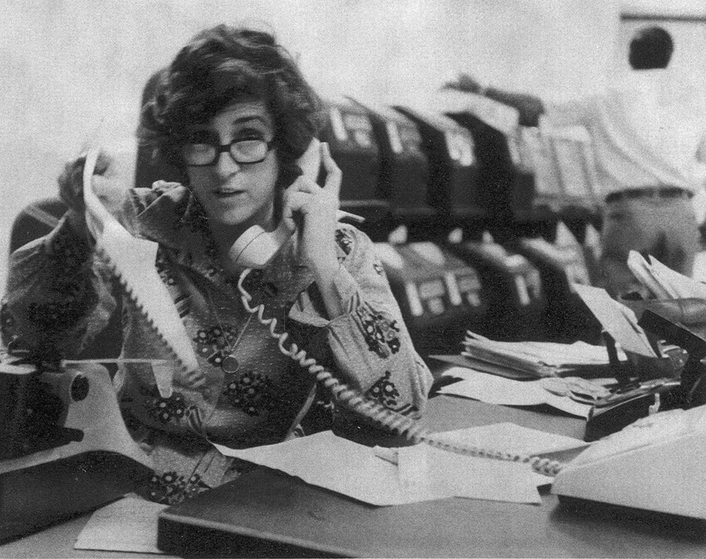 Kathryn Johnson in the AP bureau office in Atlanta, Ga., during late 1970s. (AP Photo)