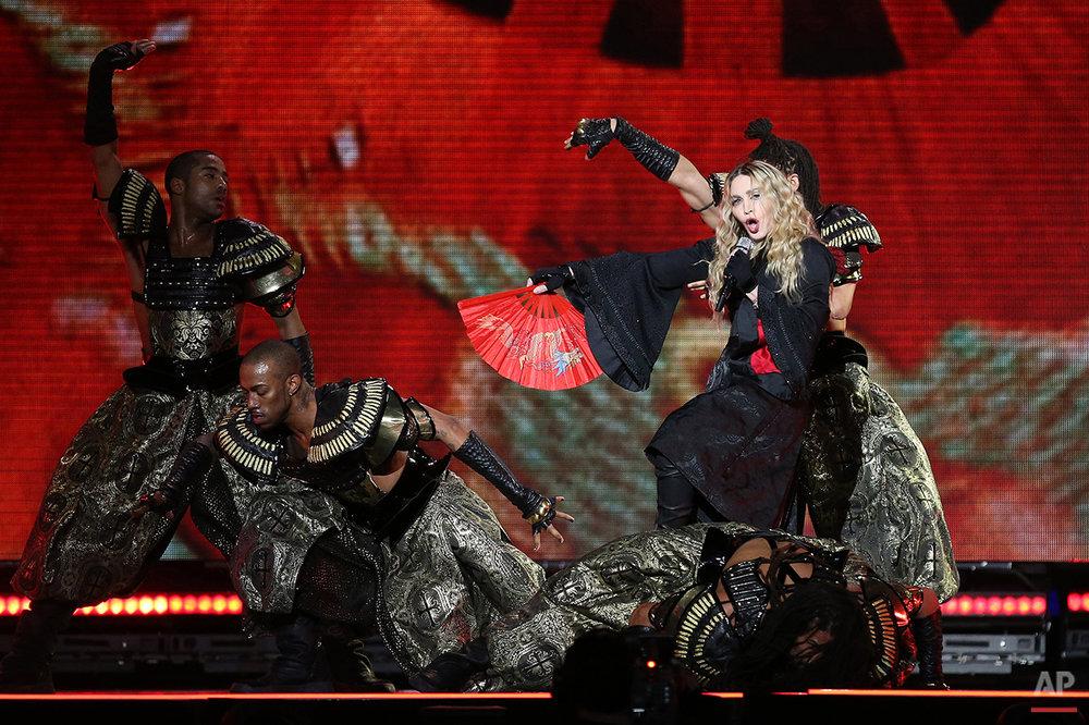 APTOPIX Britain Madonna Concert