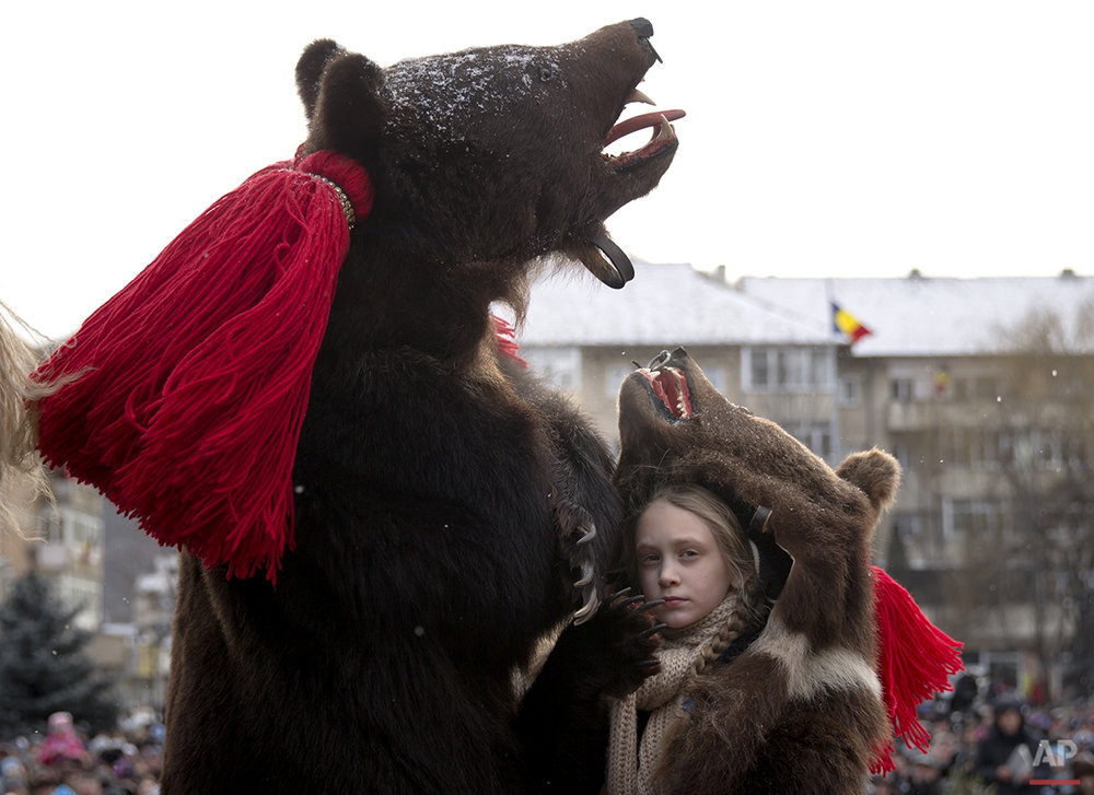 APTOPIX Romania New Year's Bear Ritual