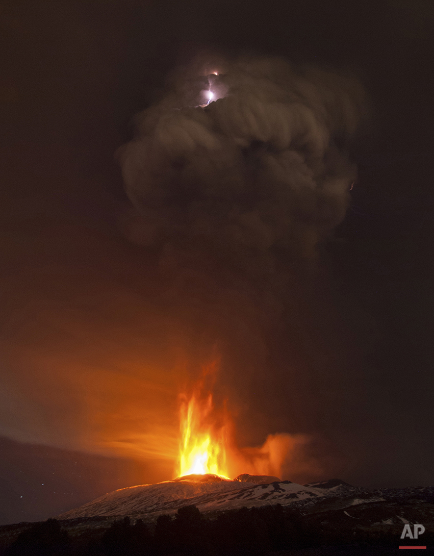 APTOPIX Italy Etna Eruption
