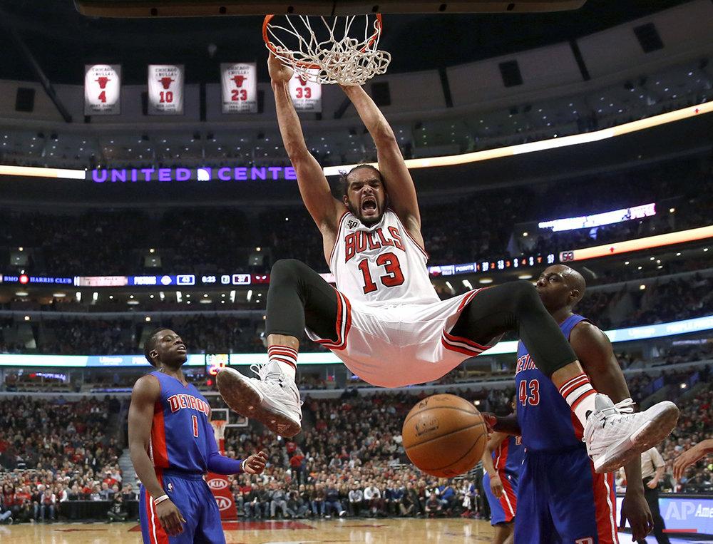 APTOPIX Pistons Bulls Basketball