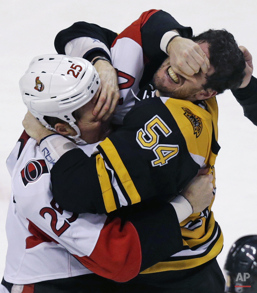 APTOPIX Senators Bruins Hockey